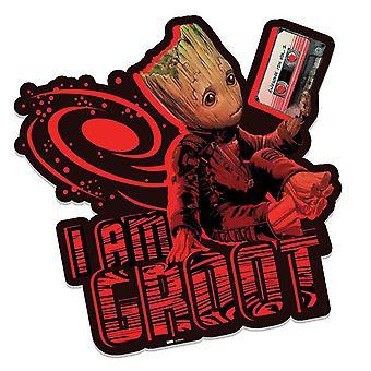 Baby Groot bedrift Awesome Mixtape vogtere af Galaxy Vol. 2 3D effekt pap påklædningsdukke vægudsmykning