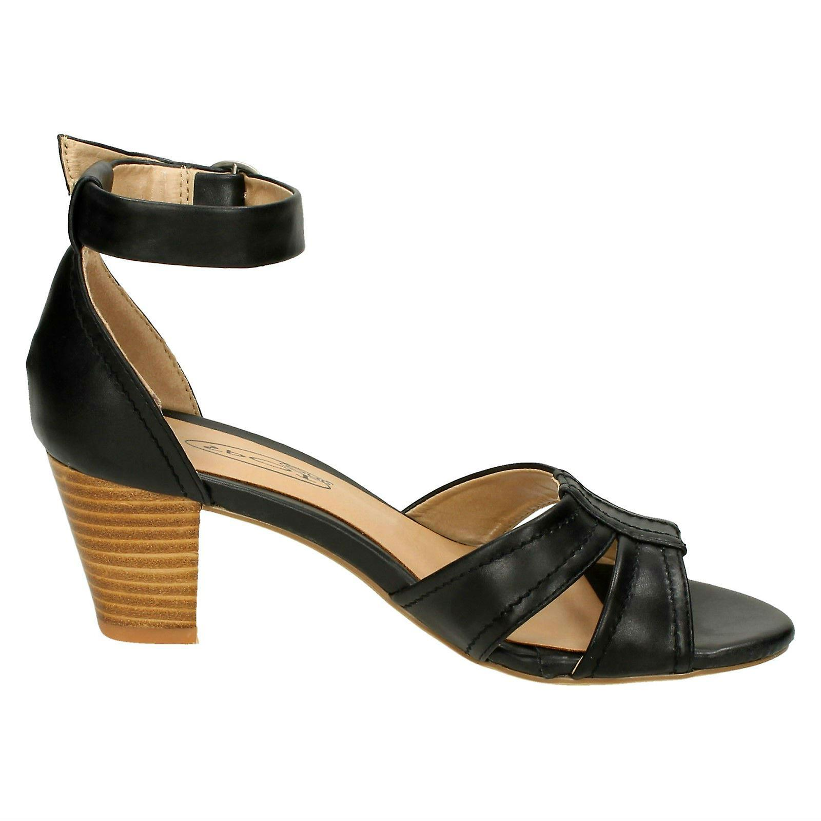 Spot Sandal Ankle Ladies Strap Heeled Vamp Stitched On with FxXxpwdgq