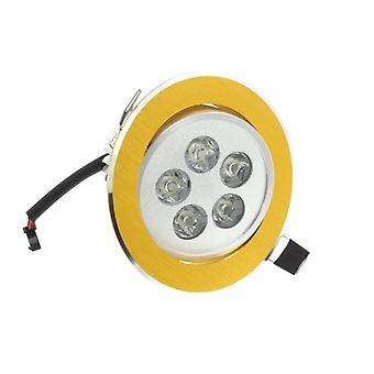 I LumoS High Quality Epistar 5 Watts Gold Circle Aluminium LED Spot Downlight