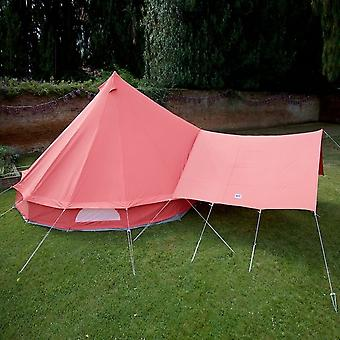 Boutique Camping Bell Tent Canopy Awning - Coral Red