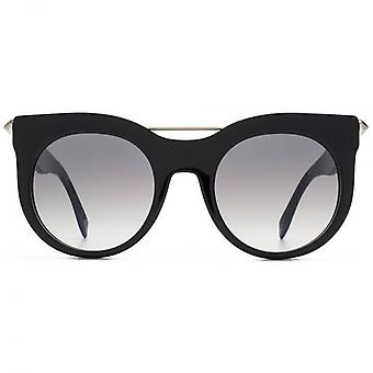 Alexander McQueen Piercing Bar Sunglasses In Black