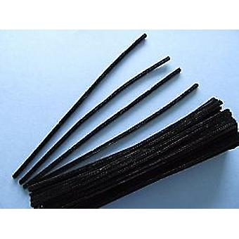 350 Black Chenille Pipe Cleaners | Chenille Stems