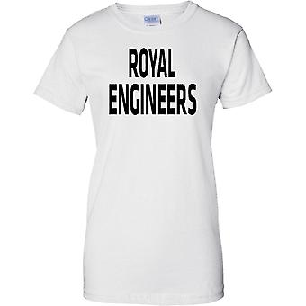 Licensed MOD -  British Army Royal Engineers - Text - Ladies T Shirt