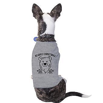 عيد الميلاد بياري دب رمادي قميص الحيوانات الأليفة للزي عطلة الحيوانات الأليفة الصغيرة