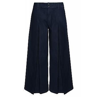 ADPT. Kamil wide pants pants women's Jeans Blau with stylish Slipcover