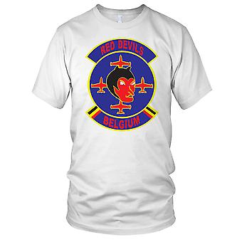 Red Devils Air Force Display Clean Ladies T Shirt
