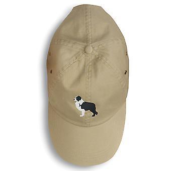 Carolines tesori BB3423BU-156 nero Border Collie ricamato berretto da Baseball