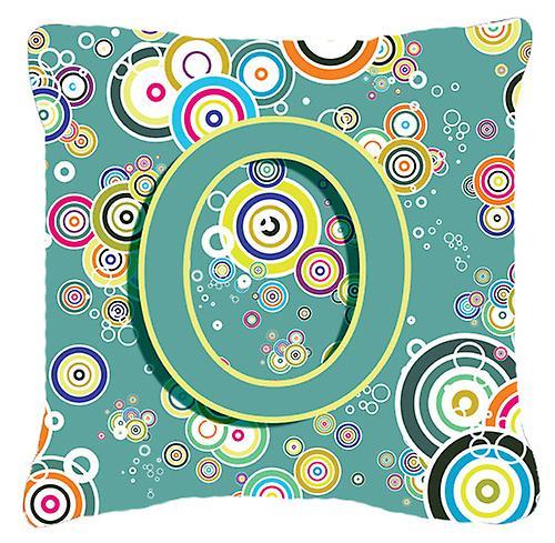 Initial Toile Cercle Alphabet Décoratif Bleu Lettre O Sarcelle Tissu Oreiller 5R4Aj3Lq