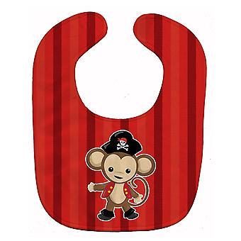 Carolines Treasures  BB8976BIB Pirate Monkey Red Baby Bib