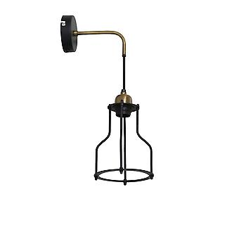 Light & Living Wall Lamp 23x15x48 Cm MARCIA Matted Black-antique Bronze