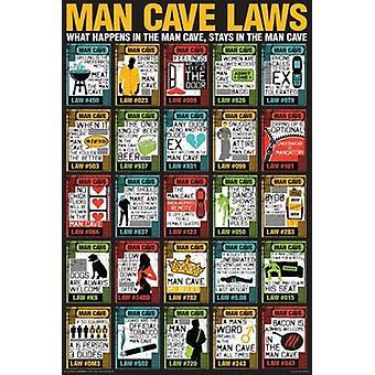 Man Cave - Man Cave Laws Poster Poster Print
