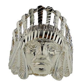 10 k Желтый Золотой головы племенной родной американский кольца Индийского начальника большое кольцо