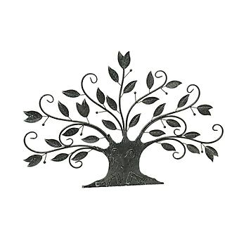 Large Leafy Metal Tree Wall Sculpture