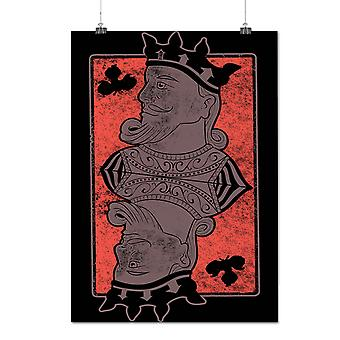 Matte or Glossy Poster with King Of Clubs Card Casino | Wellcoda | *d275