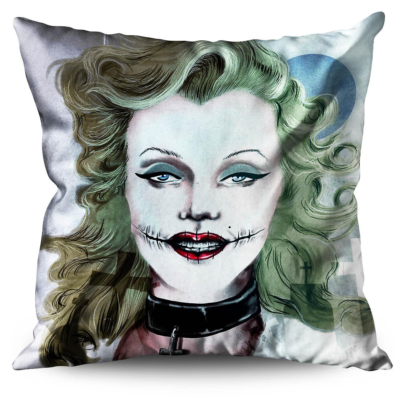 Famous Art Cushion Woman Linen 30cm XWellcoda vm0Ny8nwO