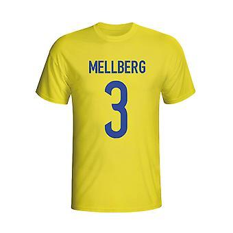 Camiseta de héroe de Suecia Olof Mellberg (amarillo)