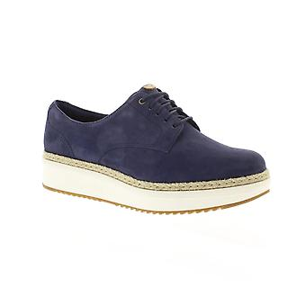Clarks Teadale Rhea - Navy Suede Womens Shoes