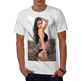 b14f24441 Sale Bikini Adult Tattoo Men WhiteT-shirt