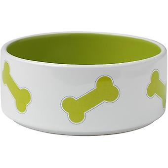 PetRageous Designs Kool Bones Bowl - Holds 3.5 Cups-Lime Green 11012P