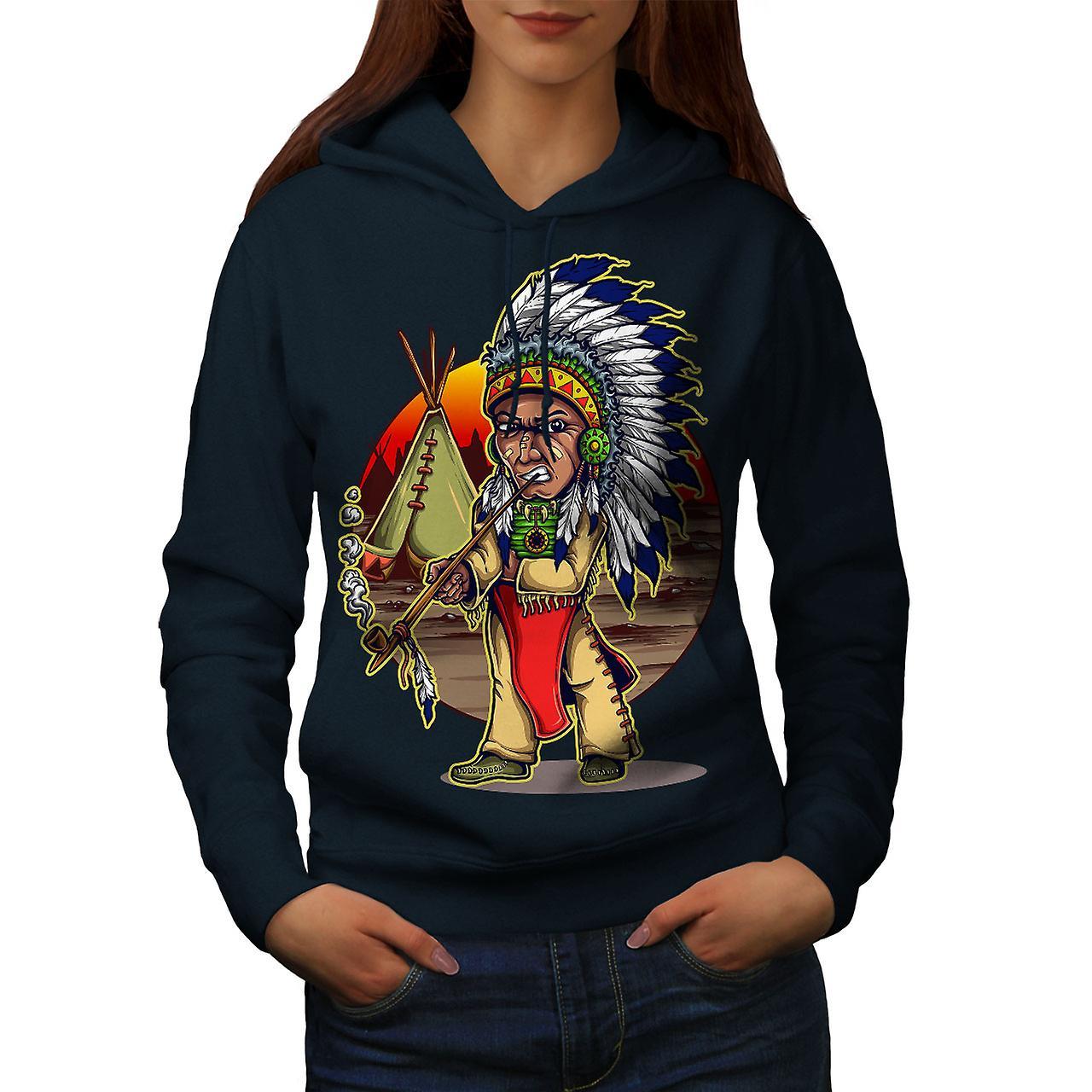 Homme indien indigène femmes NavyHoodie