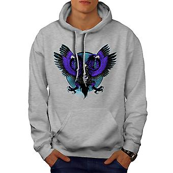 Eagle Triangle Men GreyHoodie | Wellcoda