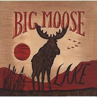 Big Moose Lake Poster Print by Becca Barton (10 x 10)
