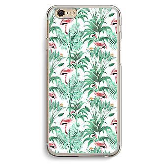 Iphone 6 6s Transparent Case (Soft) - Flamingo leaves