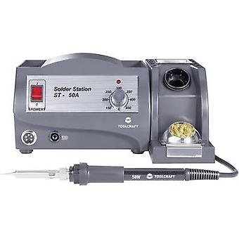 Soldering station Analogue 50 W TOOLCRAFT ST-50A +150 up to +450 °C