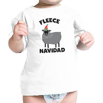 Fleece Navidad Baby Gift Tee Shirt Wit