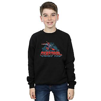 Marvel Boys Deadpool Sword Logo Sweatshirt
