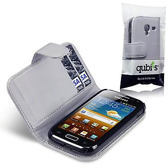 Qubits Samsung I8160 Galaxy Ace 2 Faux Leather Wallet Case-Grey