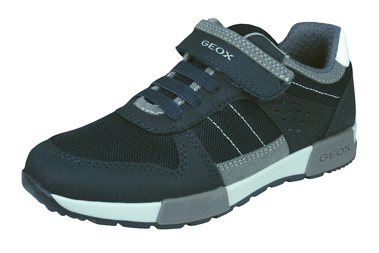 Geox Boys Casual Trainers J Alfier B.A Casual Boys Shoes - Navy c5573d