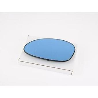 Left Blue Mirror Glass (heated) & Holder For Bmw 1 2003-2010