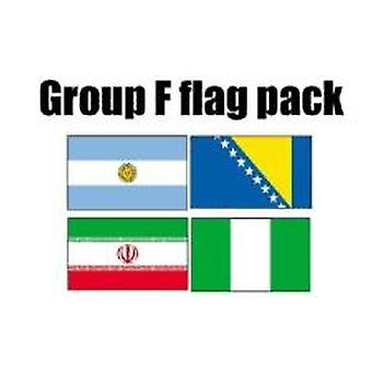 GROEP F Football World Cup 2014 vlag Pack (5 ft x 3 ft)
