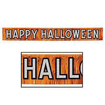 Bandera metálica Feliz Halloween