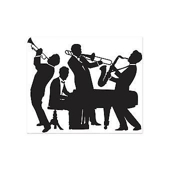 Stor 20-tals Jazz Band Insta-väggmålning