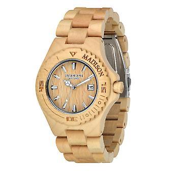 Madison New York Unisex horloge armband horloge hout G4542F