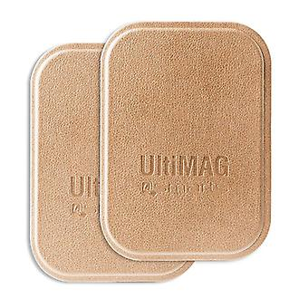 4smarts universal metal plates UltiMAG 2 x faux leather for holder, etc gold