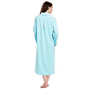Feraud 3883036-10011 Frauen Lagune blauer Baumwolle Bademantel Loungewear Bad Morgenmantel