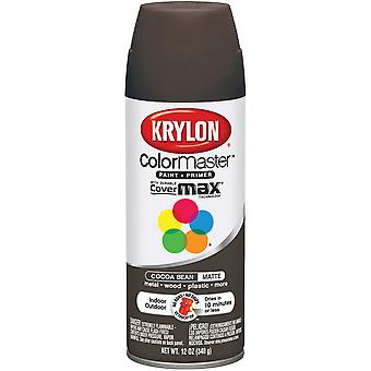 Colormaster Indoor/Outdoor Aerosol Paint 12Oz-Cocoa Bean Matte