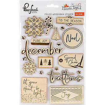 December Days Foiled Stickers 5