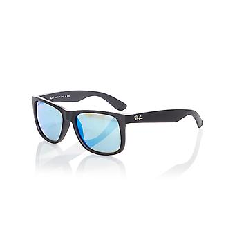 Ray-Ban zwart Rubber-Green Mirror Blue 0RB4165 Justin - 55mm zonnebril