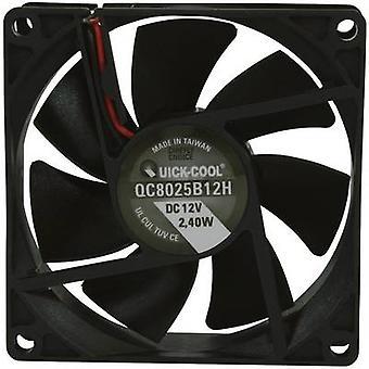 QuickCool QC8025B12H Axial fan 12 Vdc 67,96 m ³/h (L x W x H) 80 x 80 x 25mm