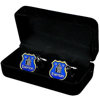 Everton Fc Crest Cufflinks In Presentation Box