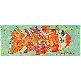 lavado + pescado seco funky mate 75 x 190 cm lavable piso mat mat de suciedad