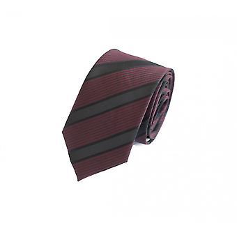 Cravatta cravatta cravatta cravatta 6cm Borgogna nero zebrato Fabio Farini