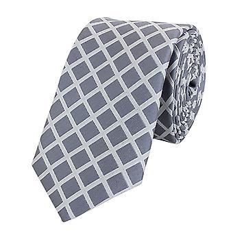 Cravatta cravatta cravatta cravatta 6cm luce grigio bianco a scacchi Fabio Farini