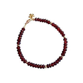 Granaat Garnet armband verguld Garnet jewelry Garnet armband