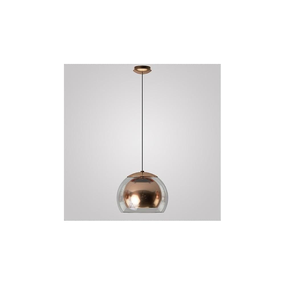 Rocamar Copper And Glass Single Pendant: Eglo Rocamar Copper Glass Globe Single Pendant Drop