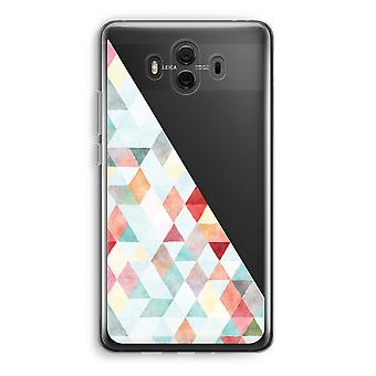 Huawei Mate 10 Transparent Case (Soft) - Coloured triangles pastel
